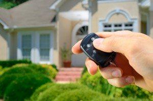 Remote control lock to a home.